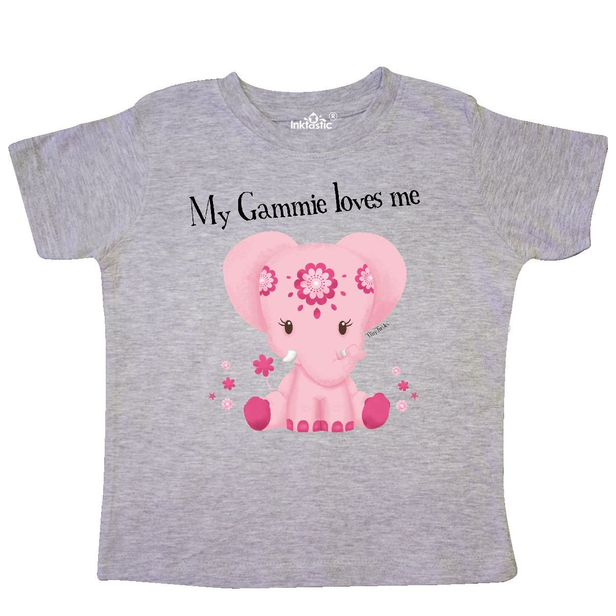 Tiny Tusks inktastic Aditi My Gammie Loves Me Pink Elephant Toddler T-Shirt