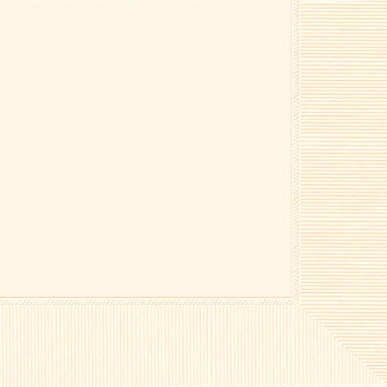 Amscan 52215.57 2-Ply Dinner Napkins Party-Zubehör, Papier, Vanilla Crème