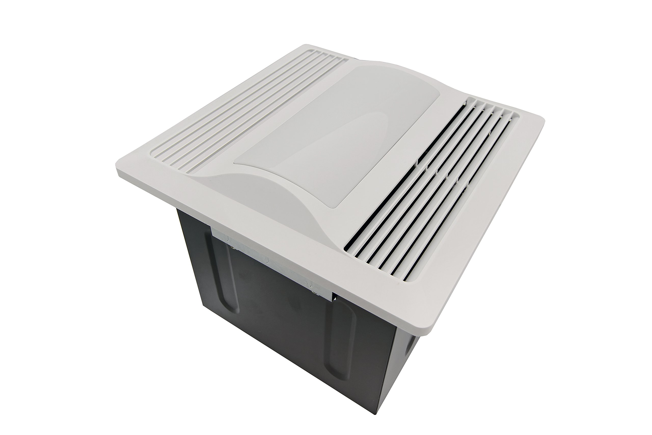 Aero Pure SBF 110 L1 W 110-CFM Super Quiet Bathroom Ventilation Fan with Light/nightlight Energy Star Qualified, White