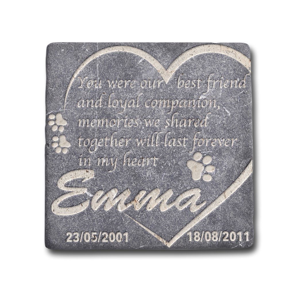 usa custom gifts personalized memorial pet headstone best friend and loyal companion 6x6 natural stone