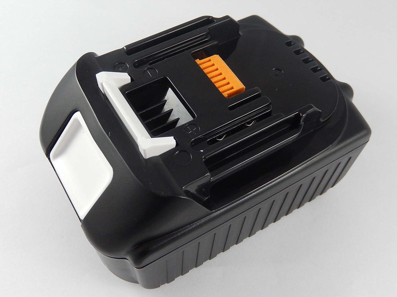 Vhbw Li-Ion Batteria 4000mAh (18V) per utensile elettrico Makita Pialletto DKP180RFJ come BL1830, 194204-5, ecc.