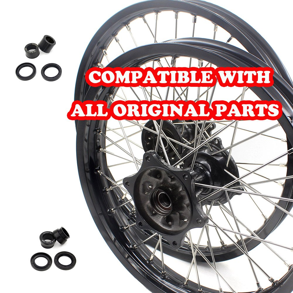 KKE HONDA MX COMPLETE CASTING WHEELS RIMS SET 21/19 CR125R CR250R 96-99 CR500R 96-01