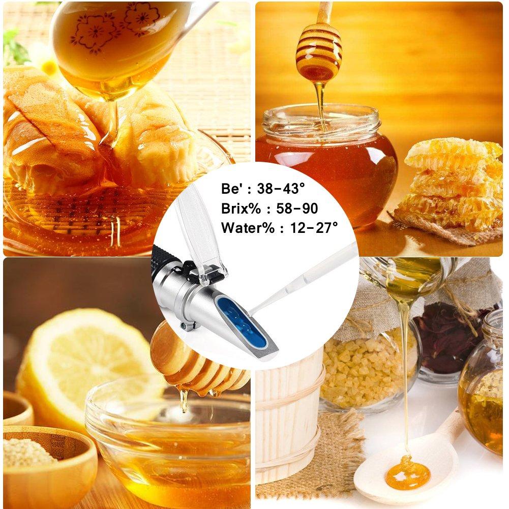 ... 58-90% Brix 38-43 Baume 12-27% de azúcar agua ATC Versátil Portátil de húmeda para apicultores de miel aceites vegetales condensados de azúcar jarabe de ...