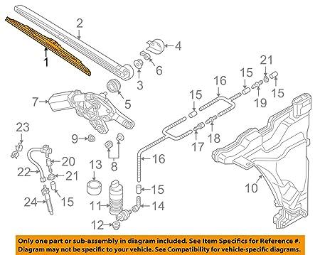 Audi A4 S4 8 W B9 Avant Limpiaparabrisas Trasero Limpiaparabrisas Original Limpiaparabrisas Trasero 8 W9955425: Amazon.es: Coche y moto