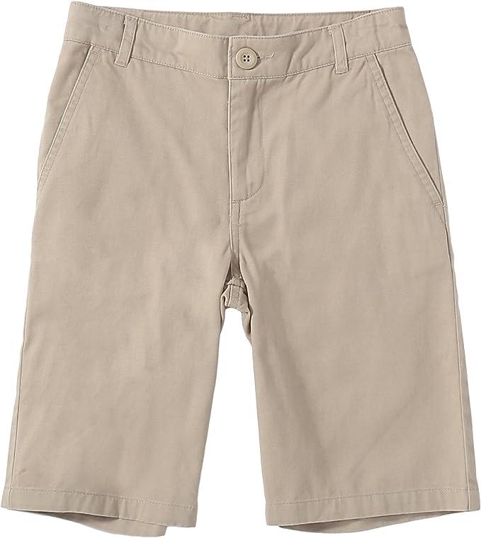 Bienzoe Niño Uniformes Escolares Algodón Bermudas Pantalones ...