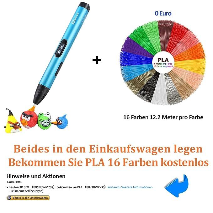 Kaufen Sie 3D-Stift bekommen Sie PLA 16 Farben kostenlos (Kein Code ...
