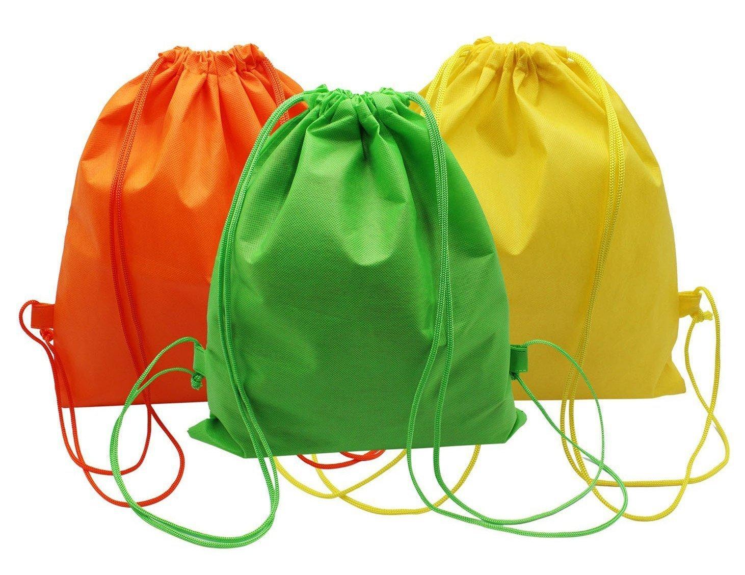 mzd8391ビーチタオル巾着トートバッグバックパックSackpack Cinch Bag for Kids /レディース/メンズ – クイックドライ&軽量 – のプール、水泳、ビーチ、キャンプ、ビーチブランケット、旅行、誕生日パーティーFavor ( 3パック) B072JGJWSL