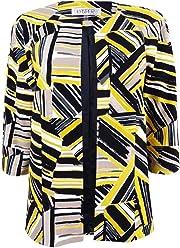 Kasper Womens Abstract Printed Scuba Crepe Jacket