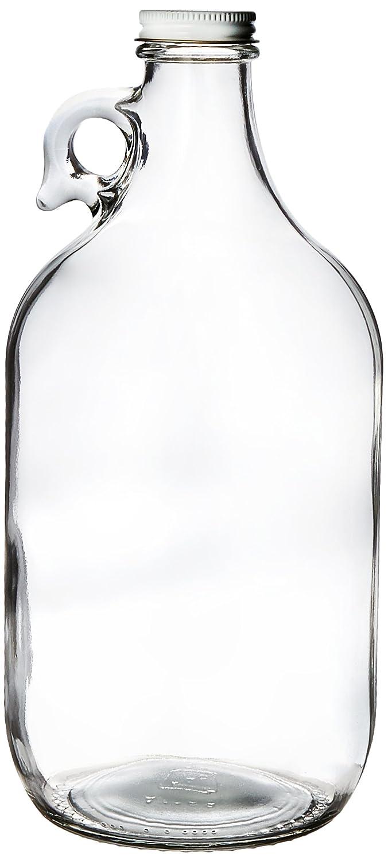 Kombucha Brooklyn 13-DXKS-HM6G Growler, clear glass half-gallon (64oz) with lid Home Brew Ohio