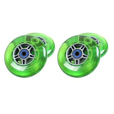 TGM Skateboards 4 Green Wheels W/ABEC 7 Bearings for Razor Scooters : Sports Scooter Wheels : Sports & Outdoors