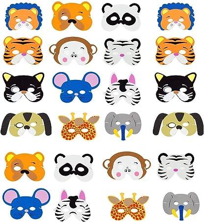 6 DIFFERENT ANIMAL FOAM MASK BIRTHDAY PARTY SCHOOL FANCY DRESS