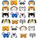 INTVN Mascarilla Animal, EVA Animal Masks Máscara de Cosplay Máscaras de Fiesta para Niños Fiesta de Cumpleaños, Navidad, Halloween, 24 Piezas