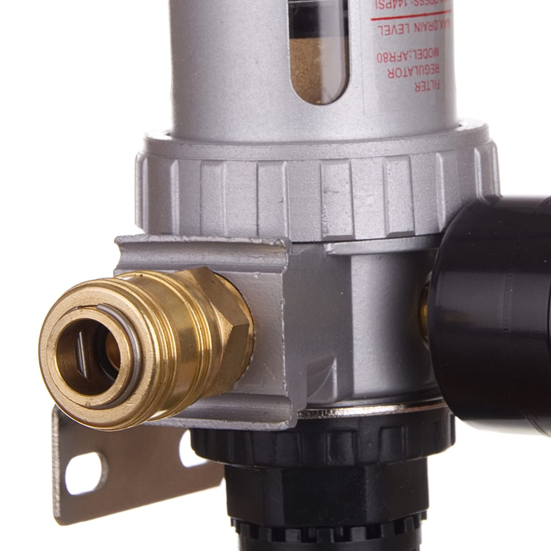 Druckluft Filter 2UM Wartungseinheit Druckminderer Regler f/ür Kompressor Schnellkupplung