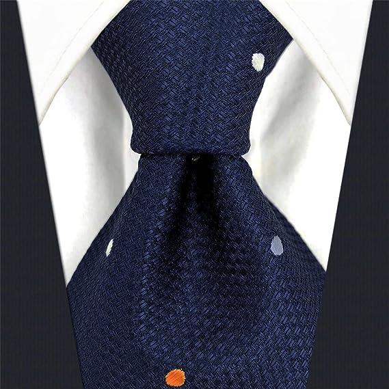 shlax&wing Puntos Azul Navy Corbatas Para Hombre Traje de negocios ...