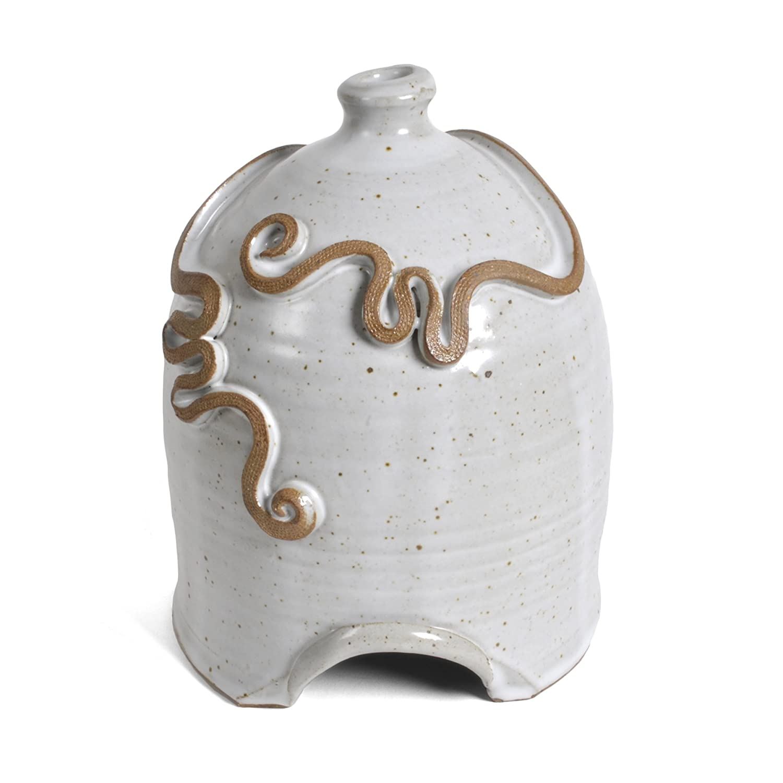 Anthony Stoneware Toad House, White