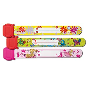 Sigel SY391 Child Safety Wristband for Girls, Design: Ballerina, Butterfly, Flowers; 19.7 cm, 3 pcs