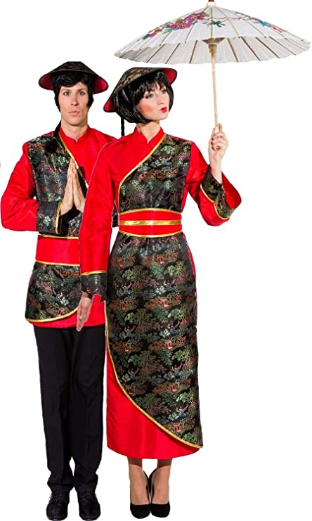 e11fa7f8c4b Couples Ladies and Mens Traditional Chinese New Year Oriental National Dress  Celebration Fancy Dress Costumes Outfits