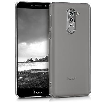 kwmobile Funda para Huawei Honor 6X / GR5 2017 / Mate 9 Lite - Carcasa Protectora de [TPU] para móvil - Cover [Trasero] en [Negro]
