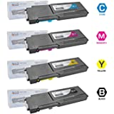SuppliesMAX Compatible Replacement for Dell C3760DNF//C3765DNF Toner Cartridge//Drum Unit Value Combo Pack BCMYC3765/_331-8434VB