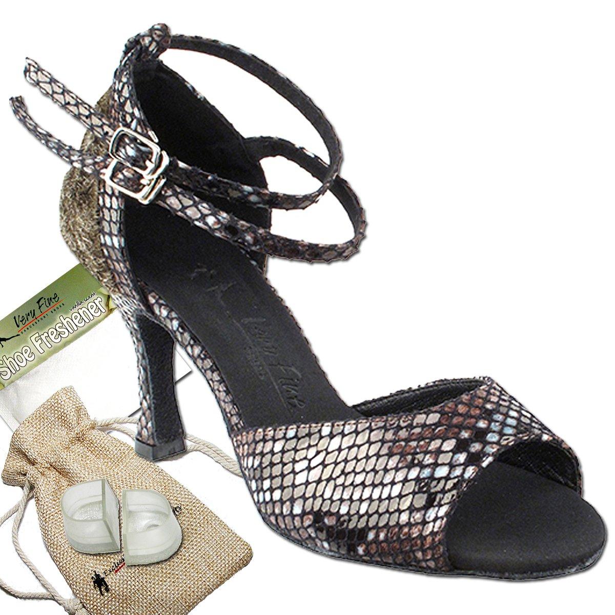 [Very Fine Dance Shoes] レディース B01HHCTAQS ブラウンスネーク 9.5 B(M) US