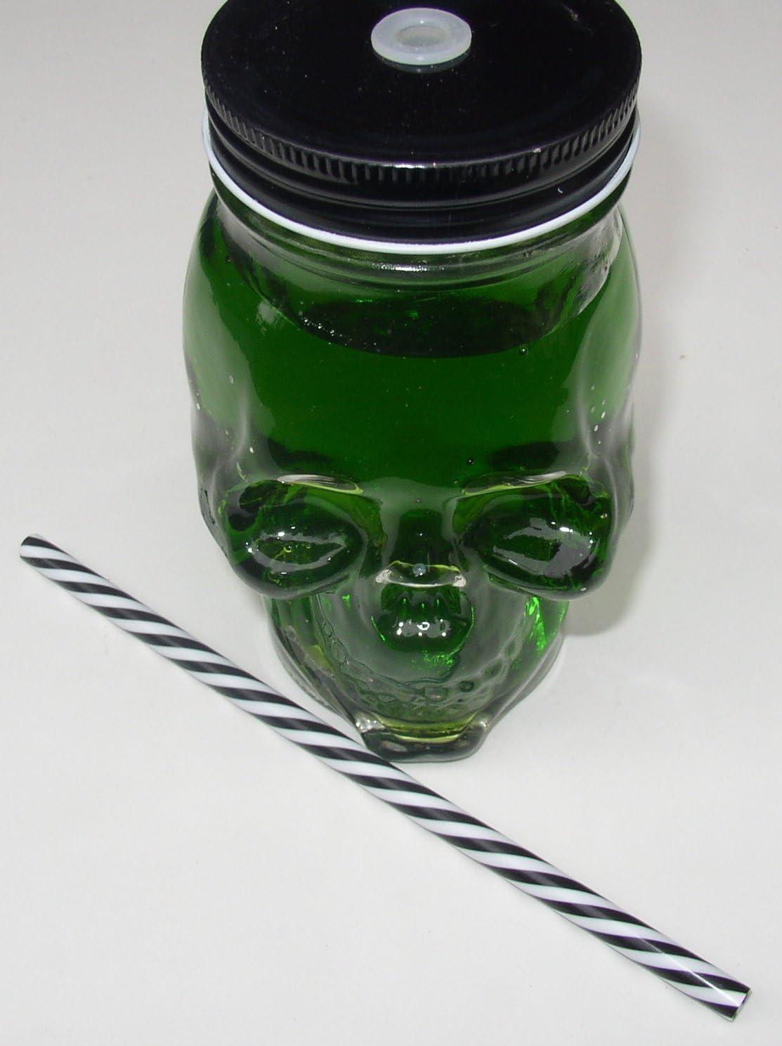 Cocktailglas Totenkopf 500ml mit Deckel und Trinkhalm 1 Unbekannt Trinkglas