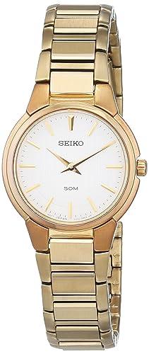 Seiko Reloj Análogo clásico para Mujer de Cuarzo con Correa en Acero Inoxidable 733104: Amazon.es: Relojes