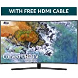 Samsung 55NU7500 55-Inch Curved Dynamic Crystal Colour Ultra HD Smart 4K TV - Charcoal Black (2018 Model) + FREE Amazon High-Speed 0.9M HDMI 2.0 cable