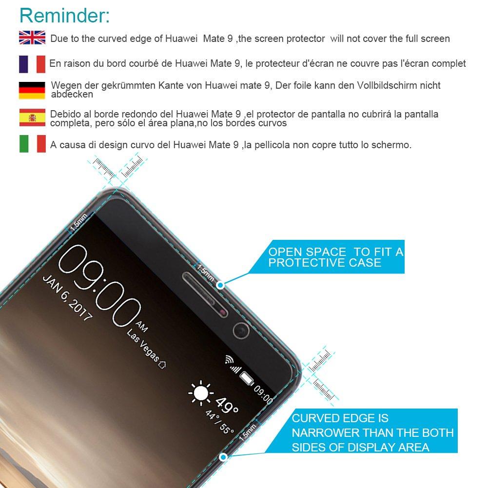 wellead [2 Pack] Protector de Pantalla Huawei Mate 9 [Japón AGC Vidrio] Vidrio Cristal Templado Huawei Mate 9, No cubrirá la Pantalla: Amazon.es: ...