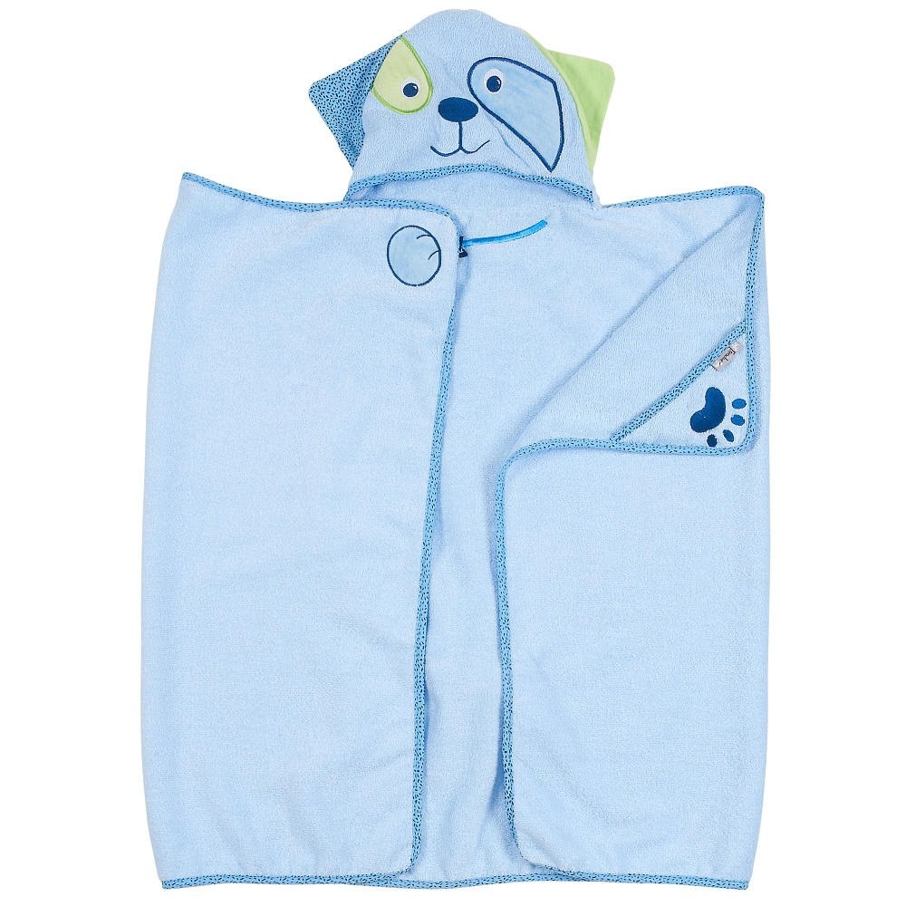Blue Dog - One of a kind extra large toddler/child Animal Character Towel with