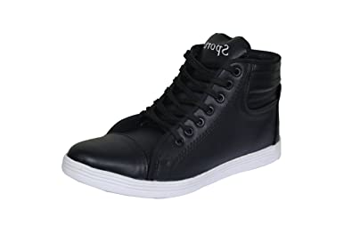 fffd88a530d Sukun Long Black Casual Shoes  Buy Online at Low Prices in India - Amazon.in