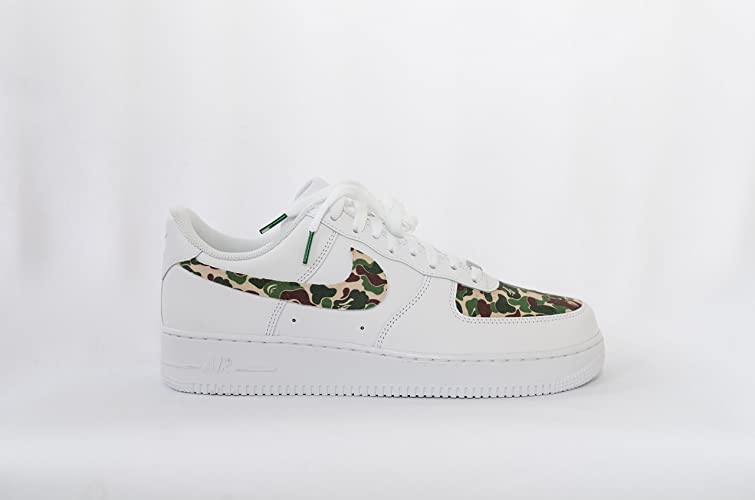 41fa35eca5882 Amazon.com: Nike Air Force 1 AF1 Custom Bathing Ape Bape Camo ...