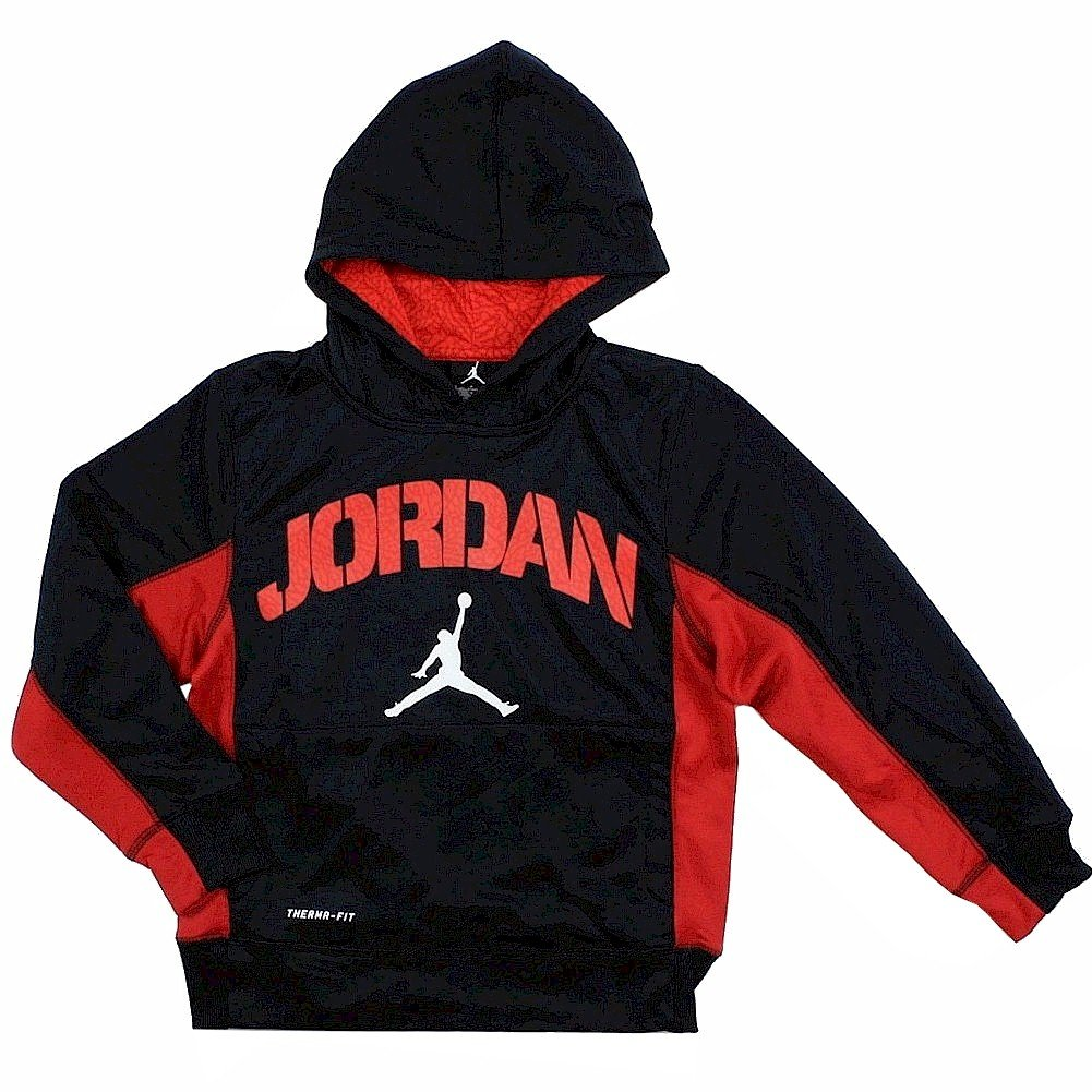 Nike Air Jordan Boys Therma Fit Hoodie Sweater Black (M)