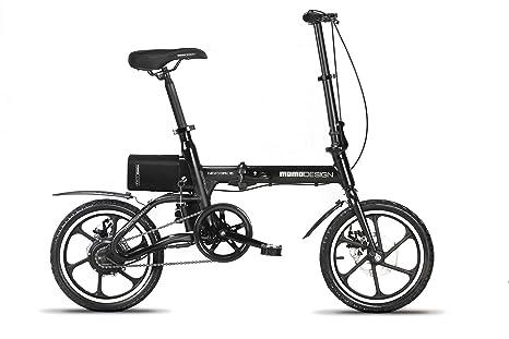 Momo Design New York 16 Bicicletta Elettrica Pieghevole 16 Velocità 25kmh Autonomia 35km Unisex Adulto Nero