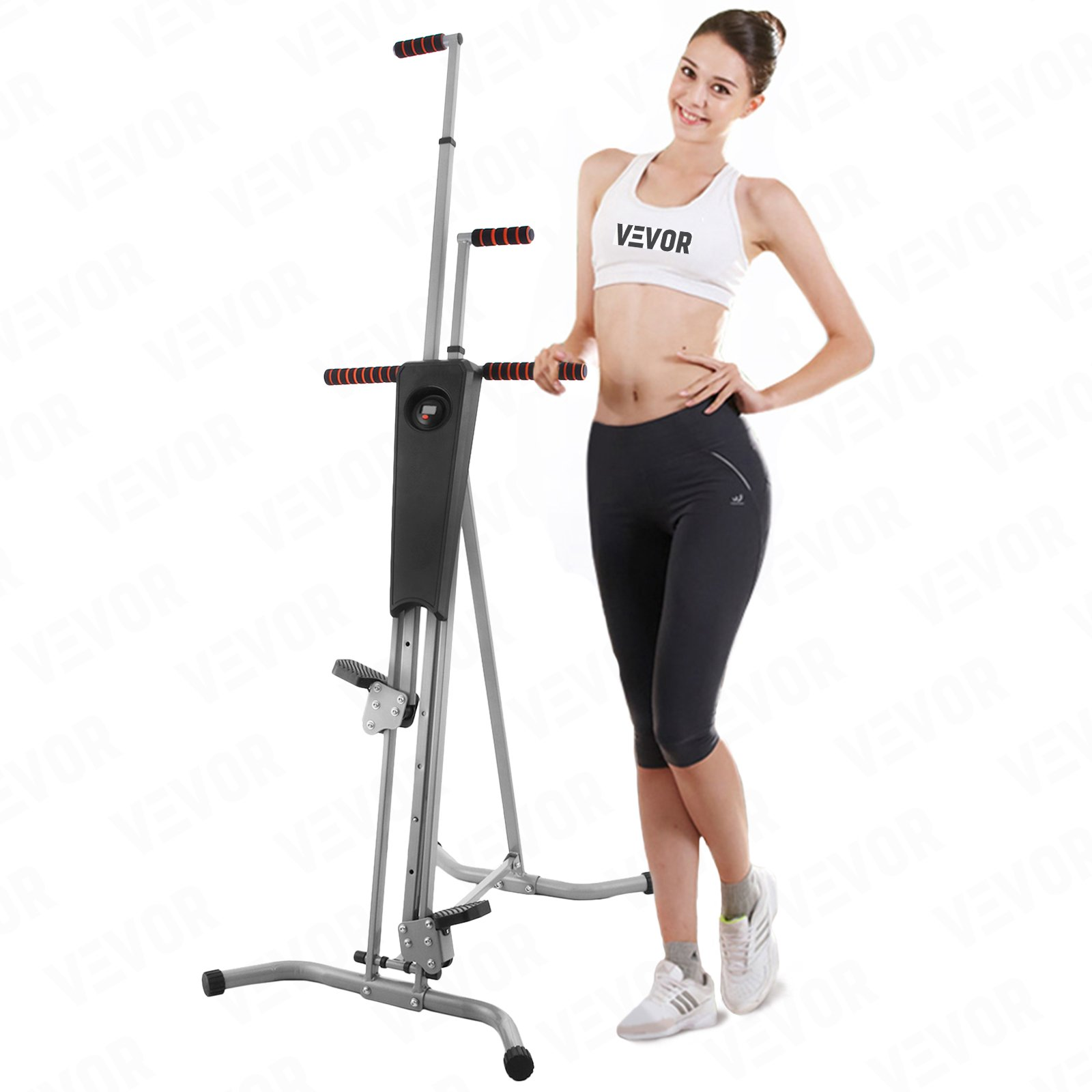 VEVOR Vertical Climber Machine 440LBS Vertical Climber Fitness Exercise Stepper with Monitor Climbing Machine Workout Fitness Gym