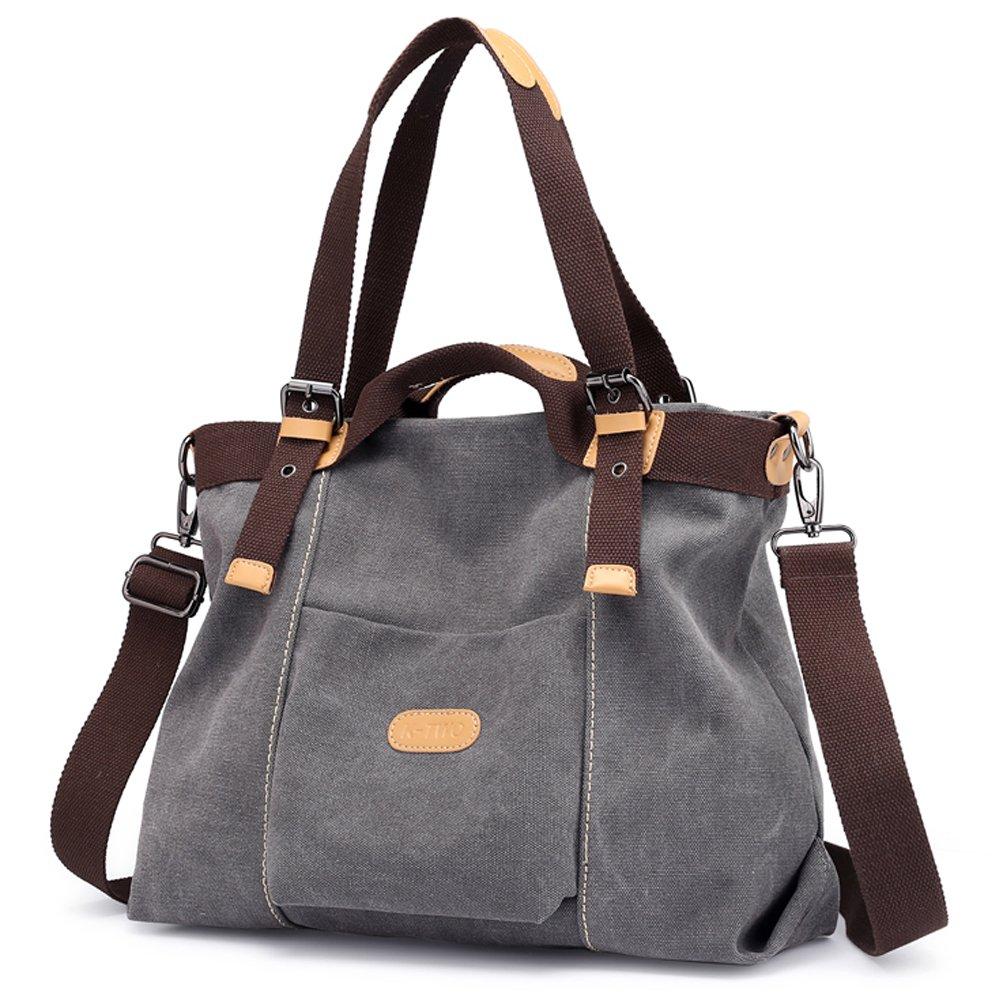 Z-joyee Women Shoulder bags Casual Vintage Hobo Canvas Handbags Top Handle Tote Crossbody Shopping Bags by Z-joyee (Image #2)