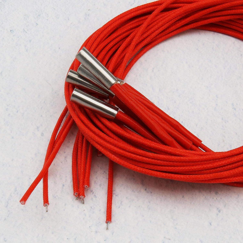 Impresora 3D Bloque de calentador de aluminio 12V40W Calentador de cartucho de cer/ámica 6x20mm de una sola cabeza con cable y kit de herramientas de montaje de termistor NTC 100K 15pcs