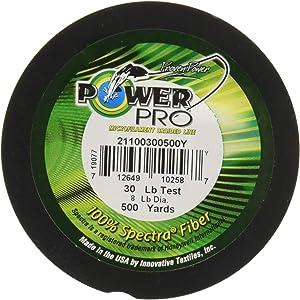 Power Pro Spectra Fiber Braided Fishing Line, Hi-Vis Yellow, 1500YD/80LB