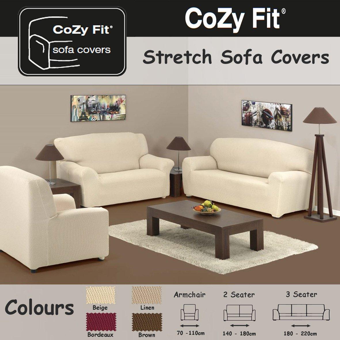 2 SEATER   Easy Stretch Elastic Fabric SOFA / SETTEE SLIP COVER Burdeaux U0027Sofa  Huggersu0027 By VICEROY BEDDING: Amazon.co.uk: Kitchen U0026 Home