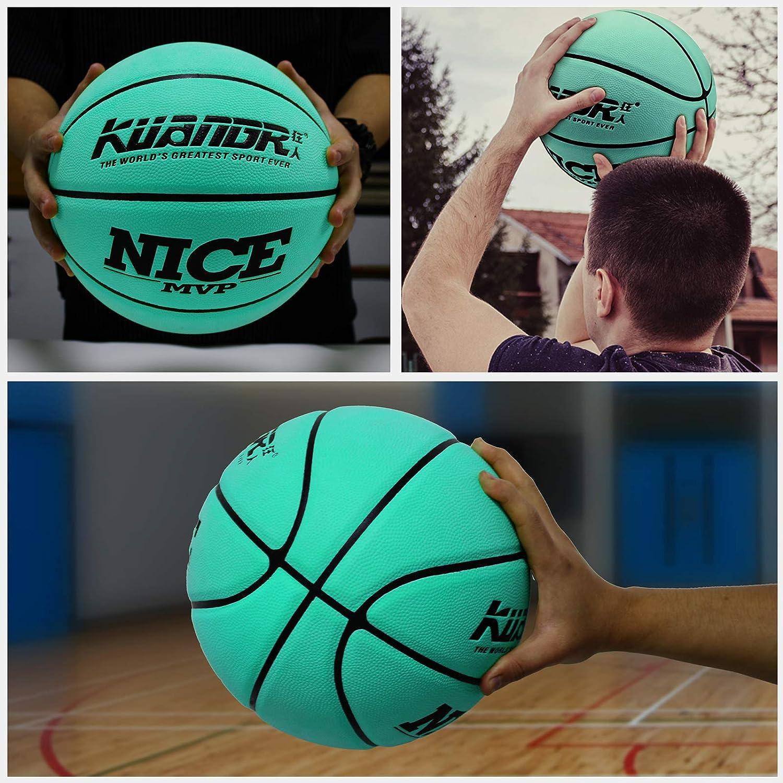 Senston Calle Universidad Balon Baloncesto Talla 7 Interior Al Aire Libre Balon Baloncesto Cuero PU Balon Baloncesto para Hombres