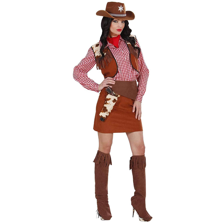 Rodeo Doll Costume  Blue Western Wild West USA Halloween Fancy Dress Costume