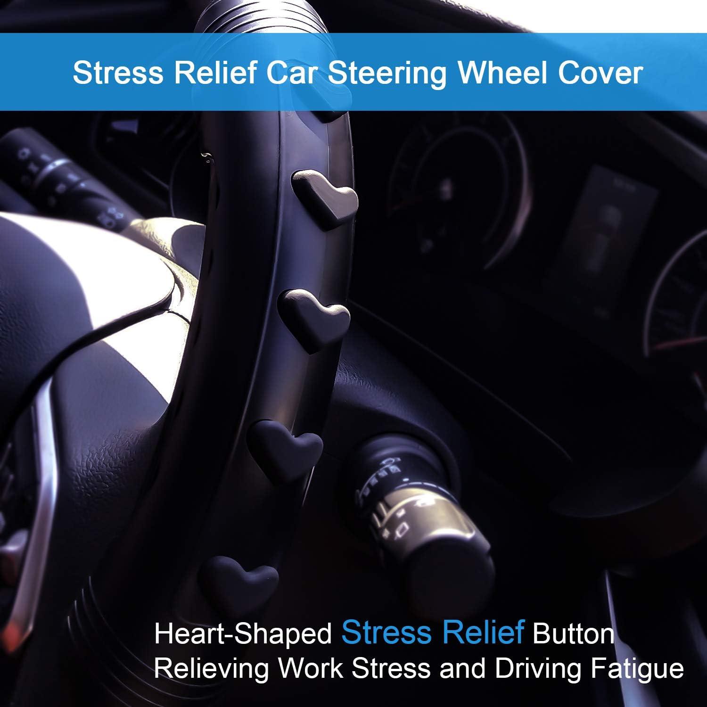 Webetop Car Steering Wheel Cover Universal Black