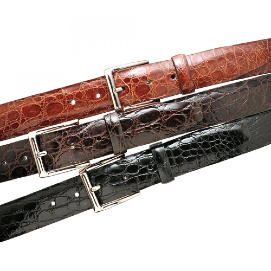 Trafalgar Newington Brown Crocodile Belt