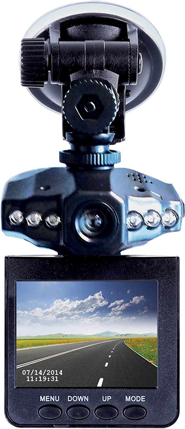 """DashCam Pro - As Seen on TV Dash Cam 360°, Motion Detection, 2.5"""" LCD, 720P HD, Dashboard Camera Video Recorder,..."""