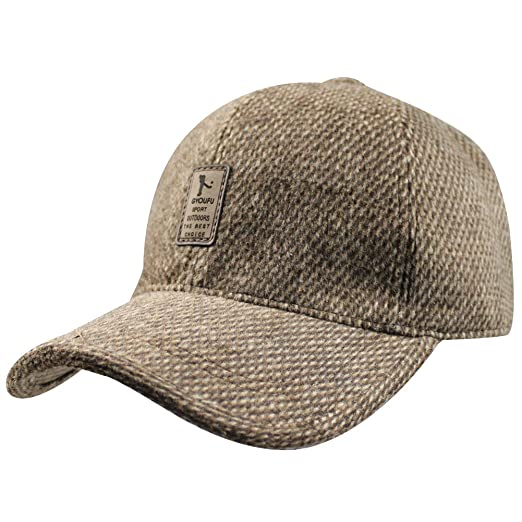 02ff5b38b1b Image Unavailable. Image not available for. Color  Mens Winter Wool Fleece  Lined Plaid Skiing Baseball Cap ...