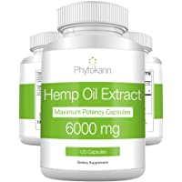 Hemp Oil Capsules 6000 MG - Best Hemp Extract for Pain Relief with Omega 3 6 9-100% Organic Hemp Oil for Pain - Hemp Capsules for Natural Anxiety Relief and Immune Support - Made in USA