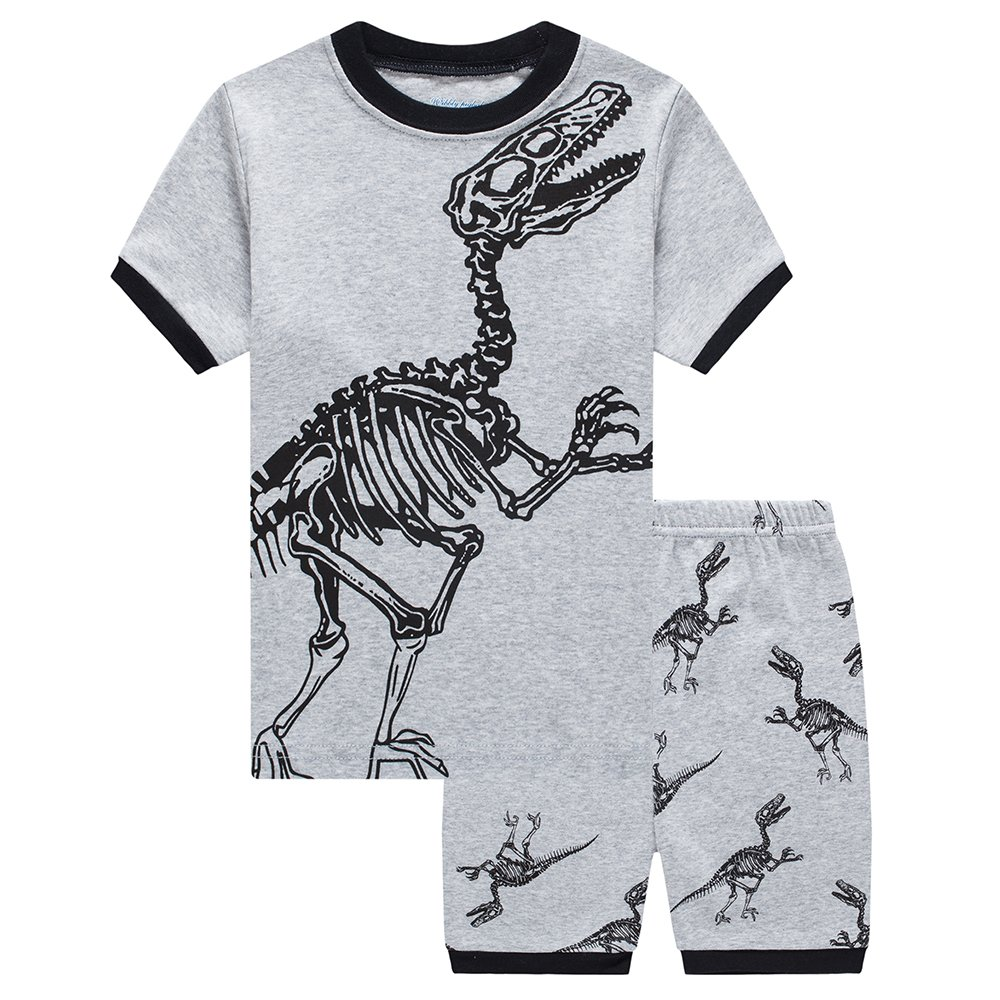 LaLaMa Toddler Boy Clothes Set Summer 2 Pieces Cotton Short Sleeve T-Shirts and Shorts
