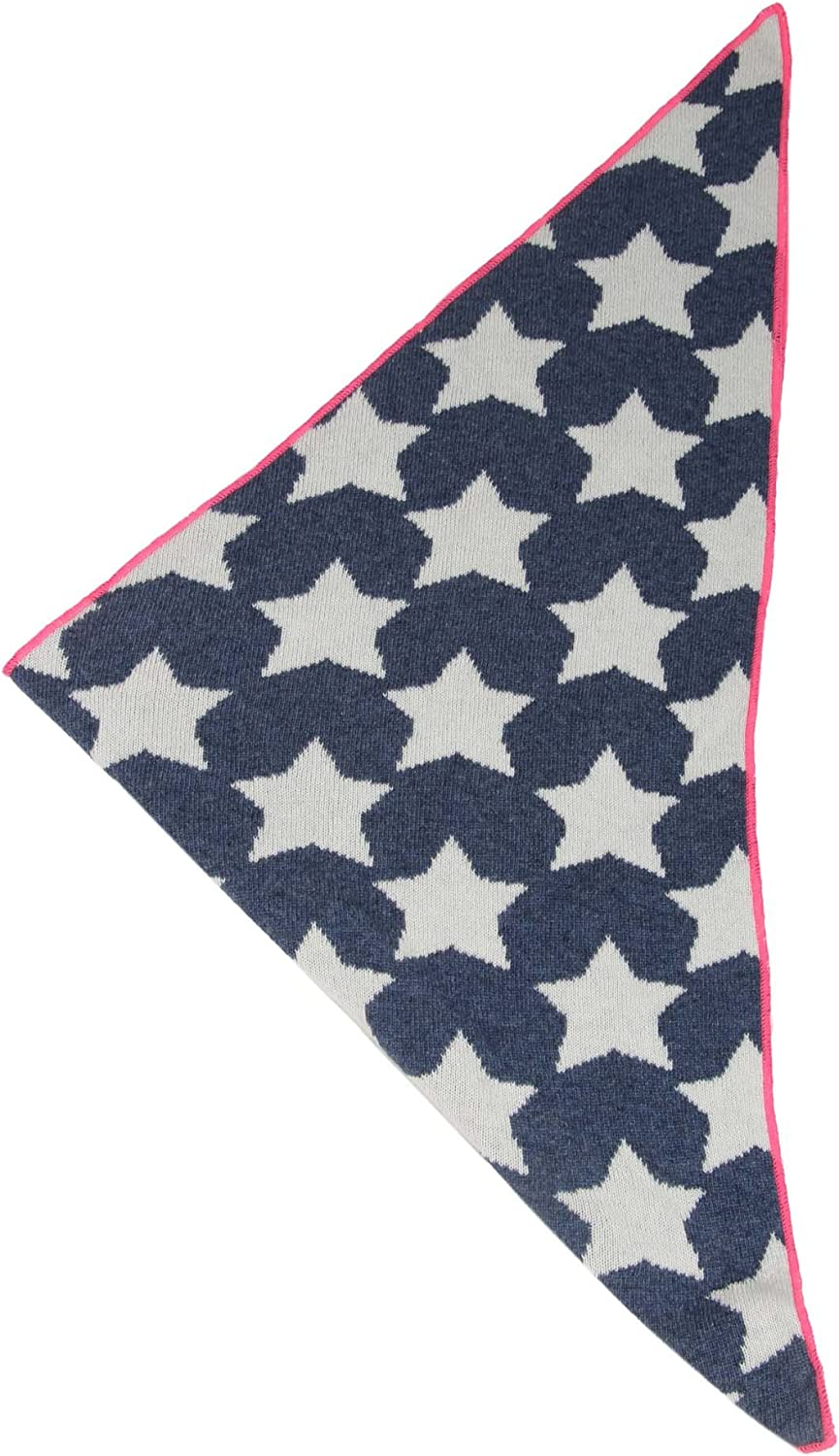 High quality scarf with stars for baby-s Boys and girls Cashmere Dreams knitwear for summer and winter XXL Neck Scarf and Ladies Zwillingsherz Cashmere Triangle Scarf
