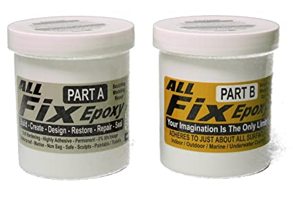 All-Fix Epoxy Putty 3 Pound Unit - 2 Pint Set - Underwater Epoxy - All Fix  By Cir-Cut Corporation - The All Purpose Epoxy Repair Material - Home -