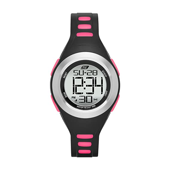 abfbeb21dd6 Skechers Women s Tennyson Quartz Metal and Silicone Digital Watch Color   Silver