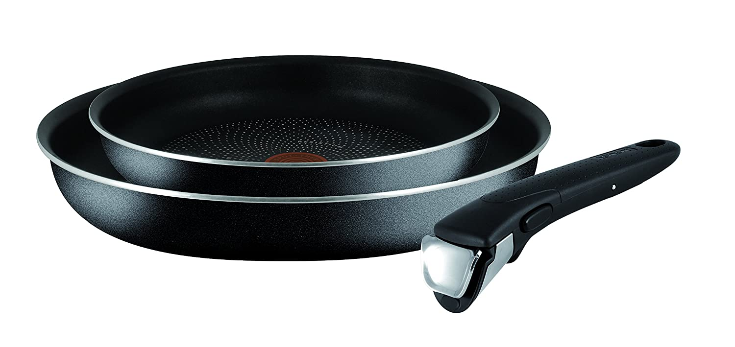 Tefal Ingenio Essential Non-stick Try-Me Cookware Set, 3 Pieces - Black by Tefal
